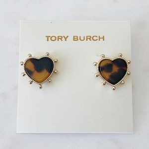 Tory Burch amber heart earrings